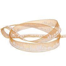 Koristeellinen nauha, talvikuvio oranssi-valkoinen 15mm 20m
