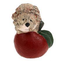 Koristeellinen siili omenalla 7,5 cm keraaminen