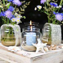 Koristelasi, kukkamaljakko, lasinen lyhty, pöydän koriste Ø10cm K10cm 6kpl.
