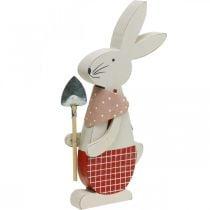 Deco pupu lapion kanssa, pupupoika, pääsiäiskoriste, puinen pupu, pääsiäispupu, pääsiäispupu