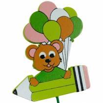 Koristeellinen pin nalle ja ilmapalloja kukka pin kesän koristelu lasten 16kpl