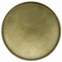 Koristeellinen lautasavi savi Ø30cm kultaa