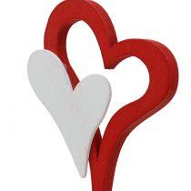 Koristeellinen pistoke kaksinkertainen sydän 28cm 18kpl