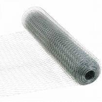 Kuusikulmainen punoslanka hopea sinkitty kani lanka 50cm × 10m