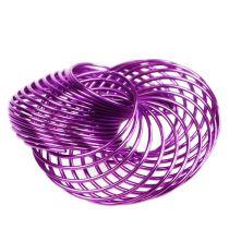 Vaijeripyörät laventeli Ø4.5cm 6kpl