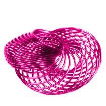 Vaijeripyörät vaaleanpunaiset Ø4.5cm 6kpl