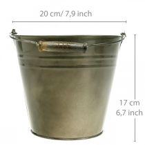 Metallinen ruukku, ämpäri istutusta varten, istutusastia Ø20cm K17cm
