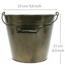 Metalliämpäri, kasviastia, metalliastia Ø25cm K21cm