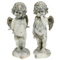 Koristeellinen enkeli Amor sydämellä 25cm 2kpl