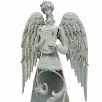 Koristeellinen enkeli metalli 58cm