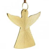 Koristeenkeli, metalliriipus, joulukoriste Kultainen 9×10cm 3kpl.
