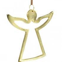 Metalliriipus, Koristeenkeli, Adventtikoriste Kultainen 15×16,5cm