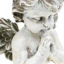 Rukoileva enkeli, hautajaiset kukka, rintakuva enkeli hahmo, haudan koristelu H19cm W19.5cm