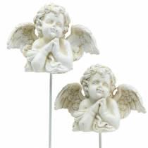 Hautakorut koristeellinen pistoke enkeli rukoilee 5cm 4kpl