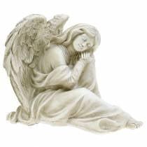 Koristeellinen enkeli istuu 19cm x 13.5cm K15cm