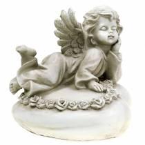 Koristeellinen enkeli sydämessä, LED 16cm 19cm K14,5cm