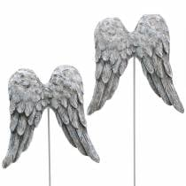 Koristeelliset tulpat enkelisiivet 10cm 3kpl