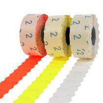 Tarrat 26x12mm eri värejä 3 rullaa
