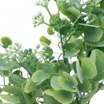 Häät koristelu Keinotekoinen Eukalyptus oksat kukkia koristelu kimppu vihreä, valkoinen 26cm
