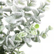 Keinotekoinen Eukalyptuksen oksa Luminen koristeellinen oksa Eukalyptus joulu 48cm