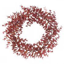 Deco Seppele Eukalyptus Punainen Keinotekoinen Eukalyptus seppele Ø32cm
