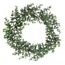 Koristeellinen seppele Eukalyptus Vihreä Keinotekoinen Eukalyptus seppele Ø32cm