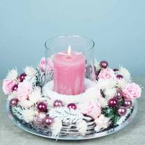 Ikuiset ruusut keskikokoiset Ø4-4,5cm vaaleanpunaiset 8kpl