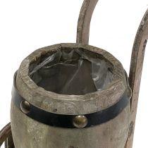 Puinen tynnyri jalustalle istutettavaksi H24,5 cm