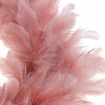 Deko Sulkaseppele Suuri vanha vaaleanpunainen pääsiäiskoriste Ø40cm