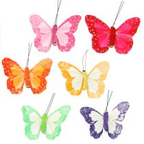 Sulka perhoset leikkeen monivärinen 7cm 12kpl