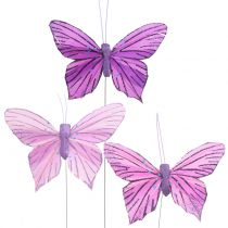 Sulka perhoset violetti 8,5cm 12kpl