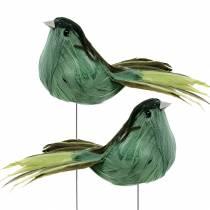 Sulka lintu langalla vihreä 12cm 4kpl