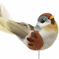 Lintu vaijerilla 5,5 cm värillisiä 9 kpl
