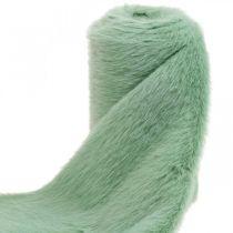 Deco Fur Ribbon Green Faux Fur Mint Fur pöytäjuoksija 15×150cm
