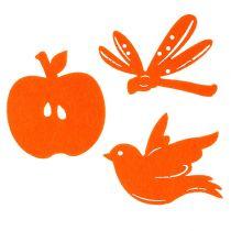 Huopa ripottele koriste oranssi 24kpl