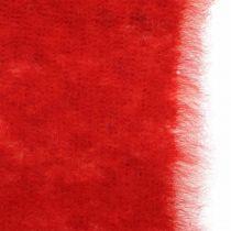 Huopanauha Deco kaksisävyinen punainen, valkoinen ruukkunauha joulu 15cm×4m