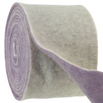 Huopanauha 15cm x 5m kaksivärinen vaalean violetti, valkoinen