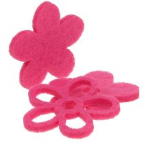 Huopakukka vaaleanpunaiselle ripottelulle koristelasina Ø4cm 72kpl