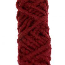 Huopanaru fleece Mirabell 25m tummanpunainen