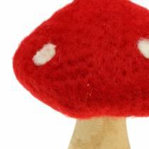 Kärpässieni syksyn koristelu punainen H13.5cm 2kpl