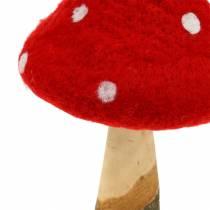 Kärpässieni syksyn koristelu punainen H27cm