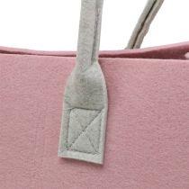 Huopapussi vaaleanpunainen 50cm x 25cm x 25cm