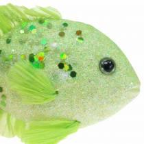 Koristeellinen kala ripustettavaksi vihreä vaaleanpunainen oranssi sininen 13-24cm 6kpl