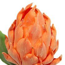 Vaahto-artisokka oranssi 14cm L28cm 1p