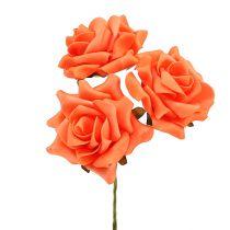 Vaahtoruusu Ø 10cm oranssi 8kpl