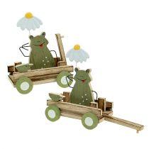 Sammakko vaunun luonteessa, vihreä 19cm x 7cm x 14cm 4kpl