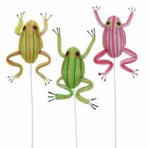 Koristeelliset sammakot langalla 7cm 3kpl valikoituja
