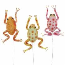 Koristeelliset sammakot pisteillä ja langalla 7,5 cm 3 kpl valikoituja