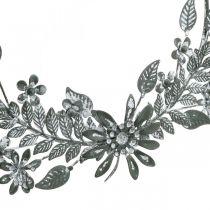 Kevät koriste, koriste rengas kukat, metalli koriste, riipus kukka koriste Ø16cm 2kpl.