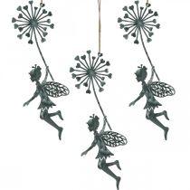 Kevät koriste, keiju voikukka, koriste riipus kukka keiju, metalli koriste 3kpl